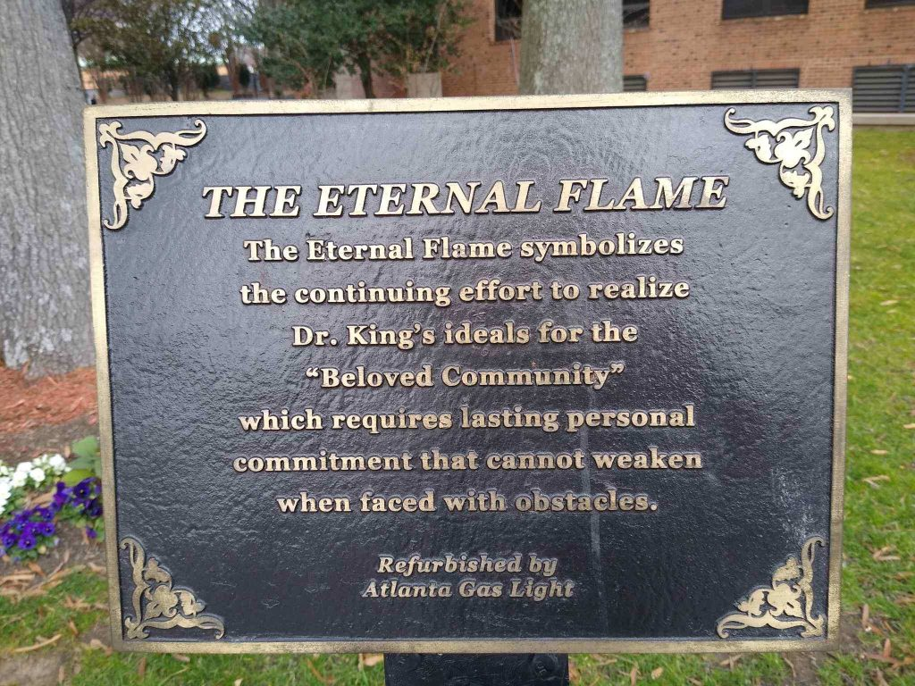 Martin Luther King Historic Site perpetual flame on Tour d'Atlanta route