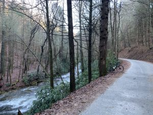 Noontoola Creek along Forest Service Road 58 on the Swinging Bridge route