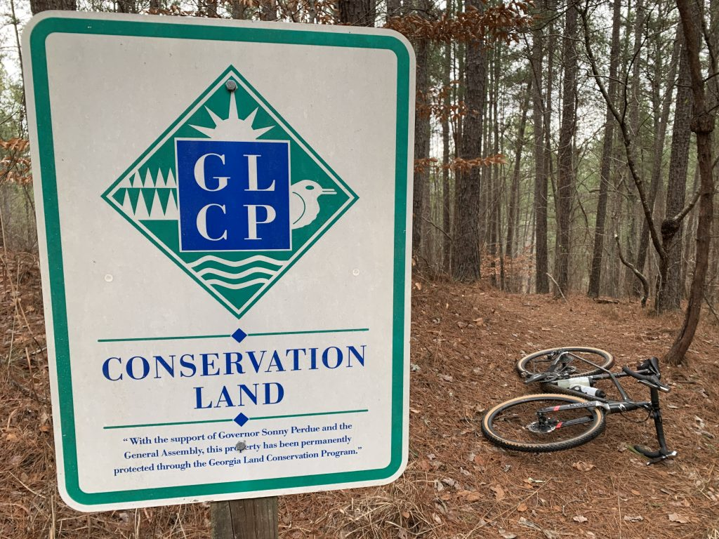 GLCP Land Sign along the Silver Comet Trail