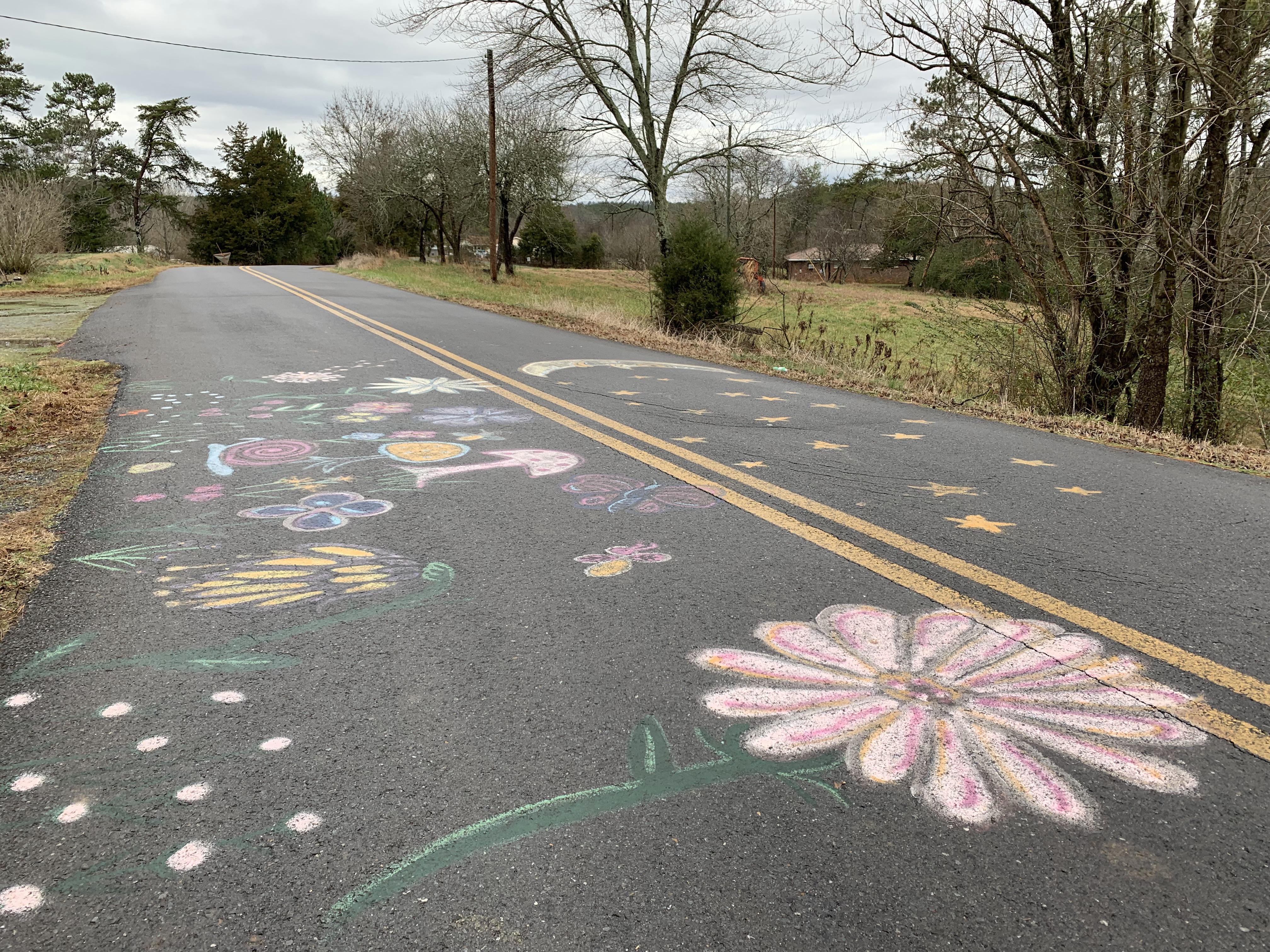 Road Art on the Loves Bridge route