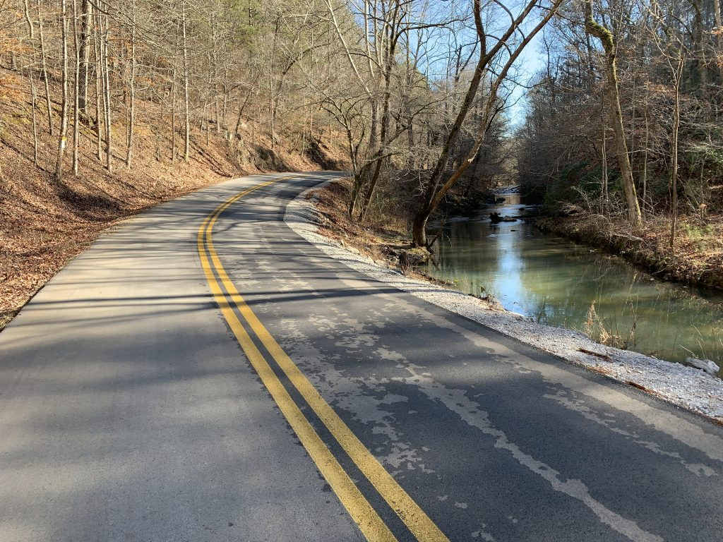 Pocket Rd on the Haywood Valley Route