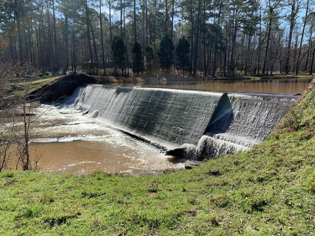 Dam on the Red Clay Ramble route