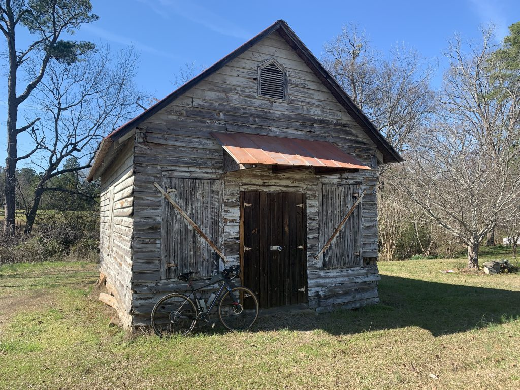 Old storage building on the Red Clay Ramble route.